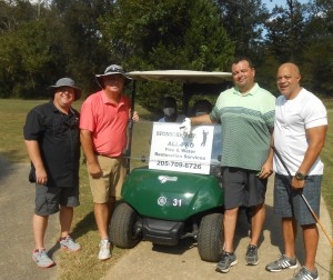 Paul Henderson of All Pro Fire (far left) is Closest to the Pin